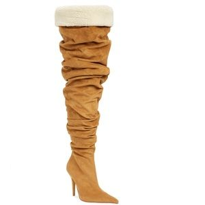 NWT Jeffrey Campbell Igloo slouchy thigh high boot